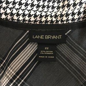 Lane Bryant Tops - Lane Bryant Sz 22 Houndstooth Shirt Long Sleeve